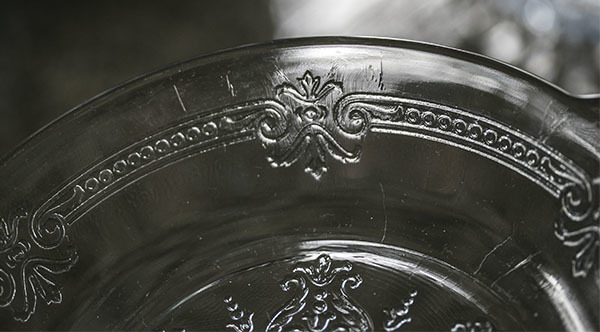 美品! ファイヤーキング サファイヤブルー フィルビー 浅いボウル プレート スープボウル 菓子器 アメリカ製 1941年~1956年製_画像6