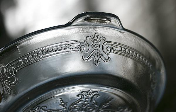 美品! ファイヤーキング サファイヤブルー フィルビー 浅いボウル プレート スープボウル 菓子器 アメリカ製 1941年~1956年製_画像5