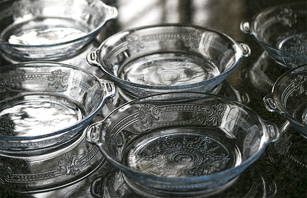 美品! ファイヤーキング サファイヤブルー フィルビー 浅いボウル プレート スープボウル 菓子器 アメリカ製 1941年~1956年製_画像7