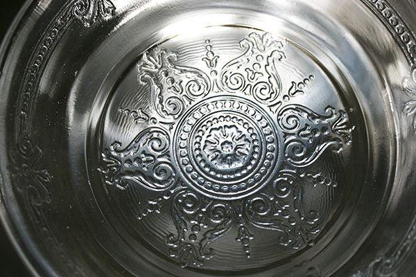 美品! ファイヤーキング サファイヤブルー フィルビー 浅いボウル プレート スープボウル 菓子器 アメリカ製 1941年~1956年製_画像2