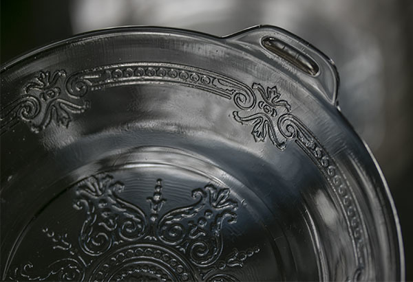 美品! ファイヤーキング サファイヤブルー フィルビー 浅いボウル プレート スープボウル 菓子器 アメリカ製 1941年~1956年製_画像3