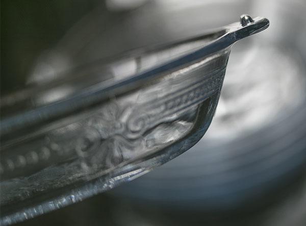 美品! ファイヤーキング サファイヤブルー フィルビー 浅いボウル プレート スープボウル 菓子器 アメリカ製 1941年~1956年製_画像4