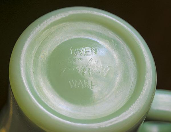 ミント! ファイヤーキング マグ ジェダイ チョコレートスリム 1940年代 耐熱 コーヒー オリジナル ミルクグラス_画像3
