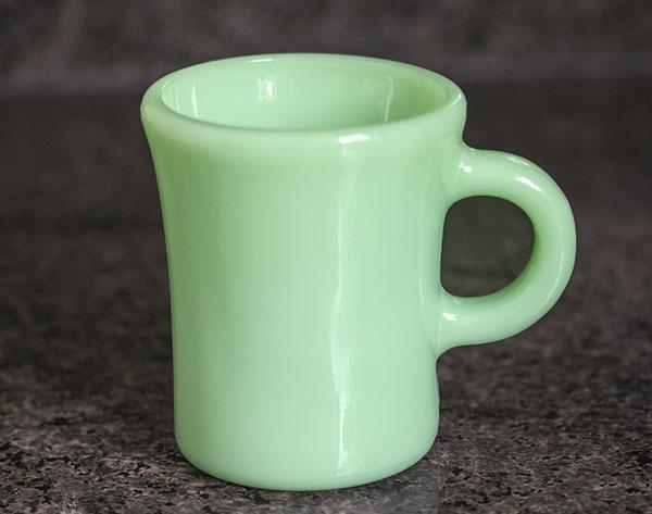 ミント! ファイヤーキング マグ ジェダイ チョコレートスリム 1940年代 耐熱 オリジナル ミルクグラス コーヒー