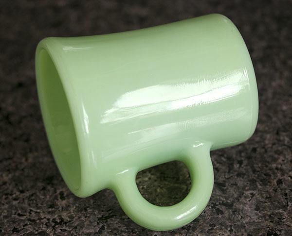 ミント! ファイヤーキング マグ ジェダイ チョコレートスリム 1940年代 耐熱 オリジナル ミルクグラス コーヒー_画像2