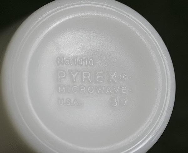 美品! パイレックス マグ スプリングブロッサム 2個セット 耐熱 ミルクグラス コーヒー_画像3