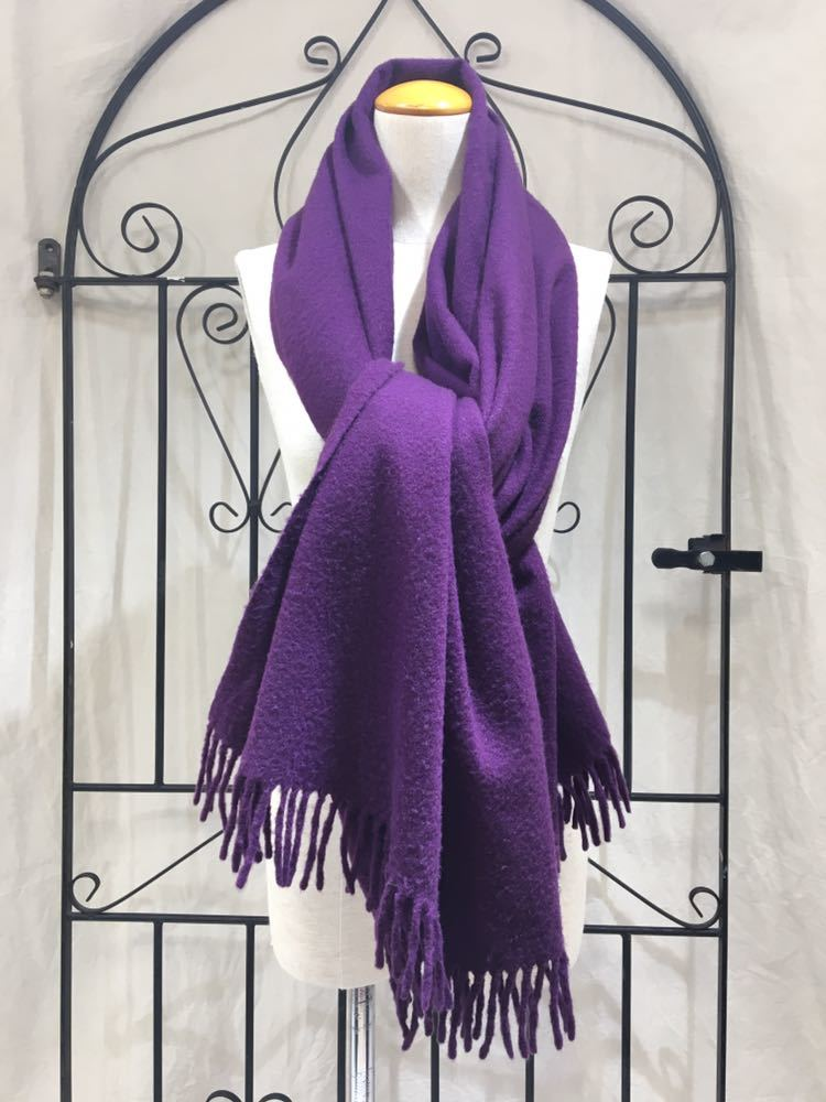 hermes cashmere100 large size shawl made in ヤフオク