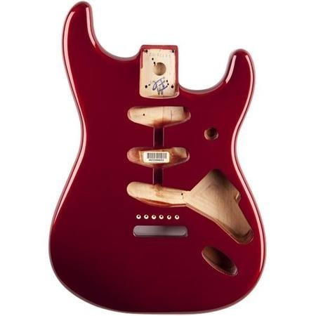 Fender純正 Stratocaster SSS Alder Body Candy Apple Red Vitage Bridge Mount #FENM-3SBODY-CARED
