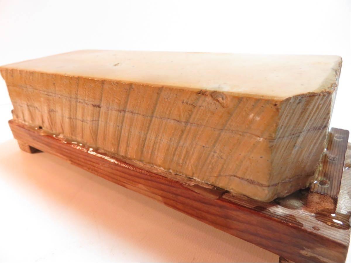 極上品 特大 マルカ 巣板 印有 天然砥石 #44_画像4