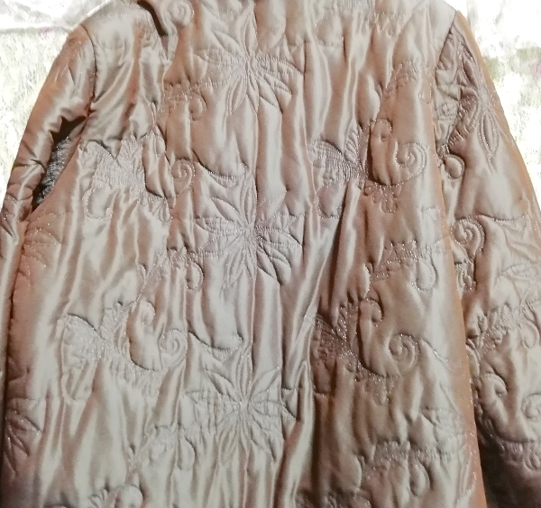 オリーブグリーンラビットファー光沢ロングコート/羽織/アウター/カーディガン Olive green rabbit fur glossy long coat/outer/cardigan_画像6