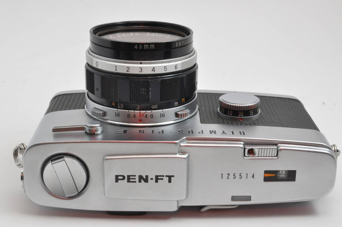 オリンパス OLYMPUS PEN FT + F.Zuiko Auto-S 38mm F1.8 とても綺麗&シャッター点検修理済_画像3