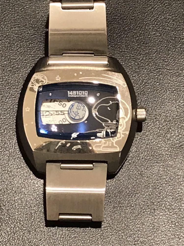 ◆1390 【1円スタート♪♪】CITIZEN★ステンレス製 腕時計★PEANUTS スヌーピー★珍しいユニークな文字盤(^^♪_画像2