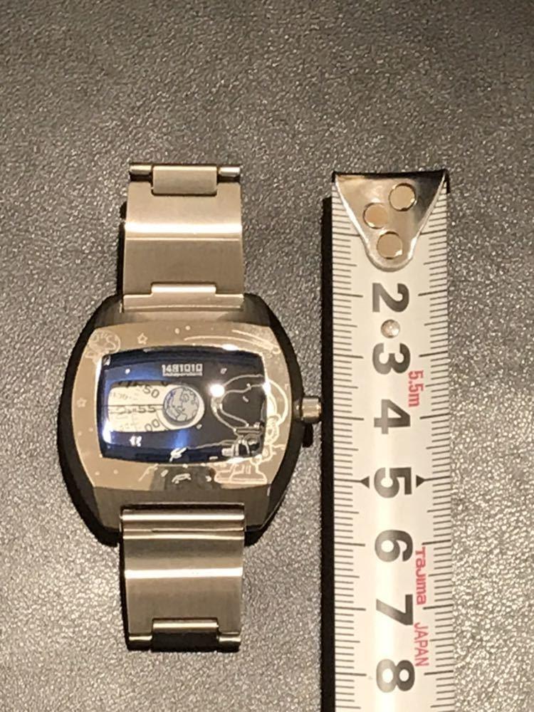◆1390 【1円スタート♪♪】CITIZEN★ステンレス製 腕時計★PEANUTS スヌーピー★珍しいユニークな文字盤(^^♪_画像5