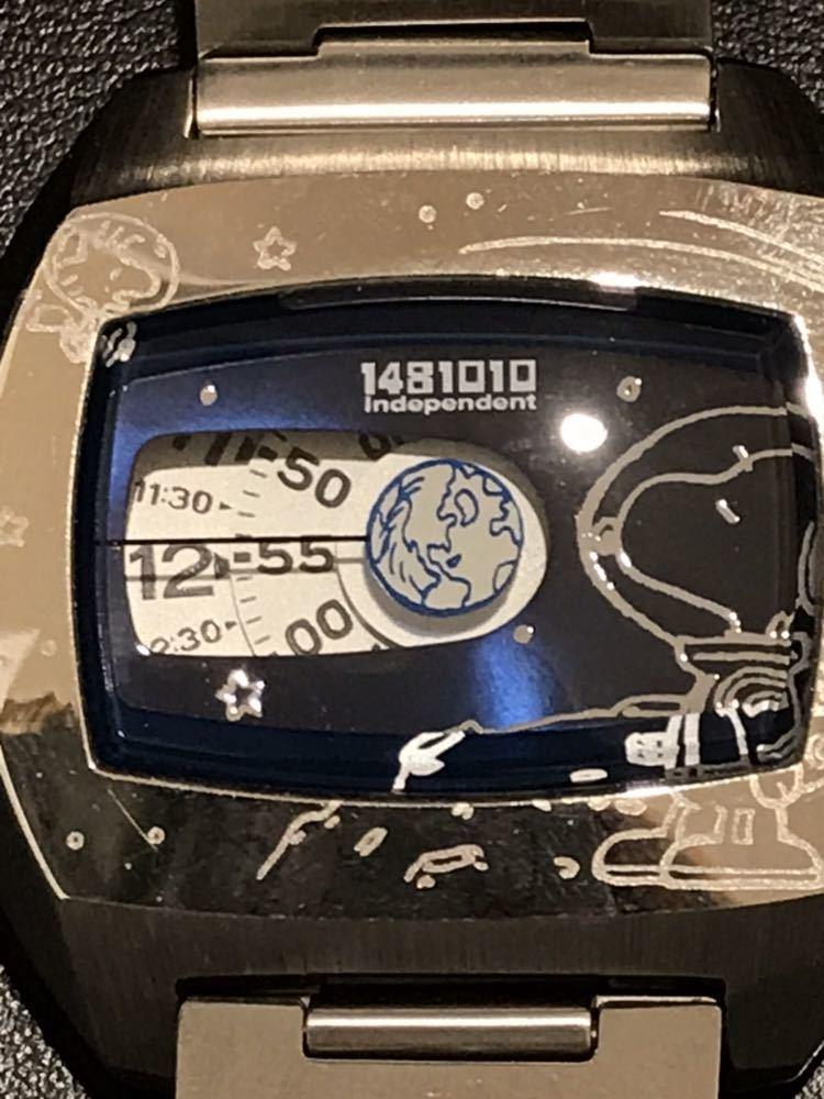 ◆1390 【1円スタート♪♪】CITIZEN★ステンレス製 腕時計★PEANUTS スヌーピー★珍しいユニークな文字盤(^^♪