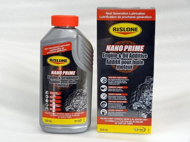 RISLONE リスロン ナノプライム ハイパフォーマンス エンジンオイル添加剤 RP-34104 500ml 新車から旧車まで_箱と中身です