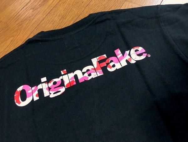 カウズ Original Fake × BAPE COLLEGE TEE 黒(S) 5th Anniversary 5周年記念 KAWS_画像4