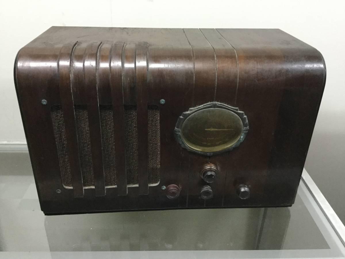 ◎ 昭和初期 ナショナル スーパー受信機 高級真空管ラジオ 松下電機 マツダ真空管