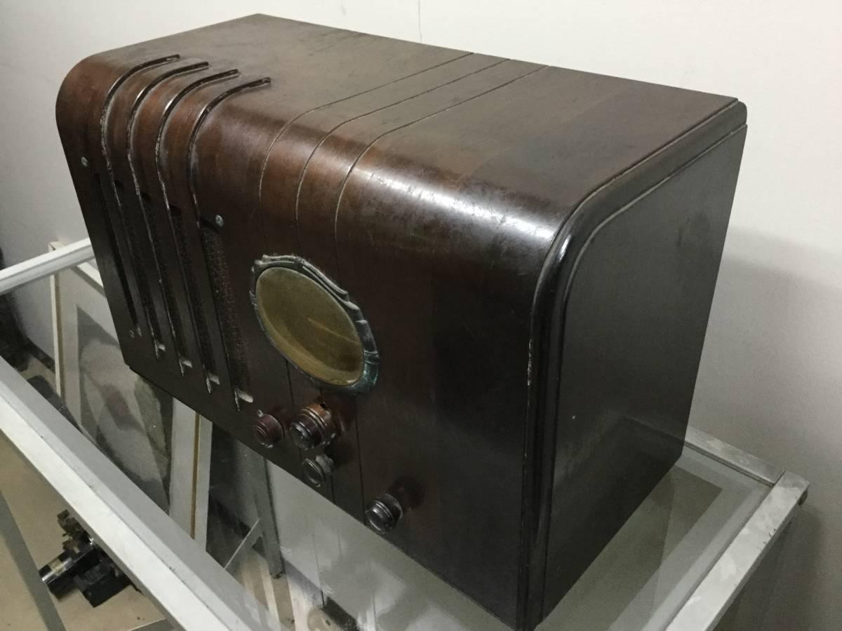 ◎ 昭和初期 ナショナル スーパー受信機 高級真空管ラジオ 松下電機 マツダ真空管_画像3