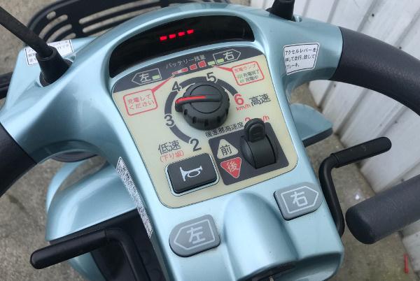 【全国配送可】SUZUKI スズキ セニアカー【ET4D6】電動四輪車 シニアカー ライトブルー ステッキホルダー/左右バックミラー/取説付_画像6