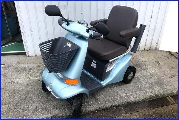 【全国配送可】SUZUKI スズキ セニアカー【ET4D6】電動四輪車 シニアカー ライトブルー ステッキホルダー/左右バックミラー/取説付_画像1
