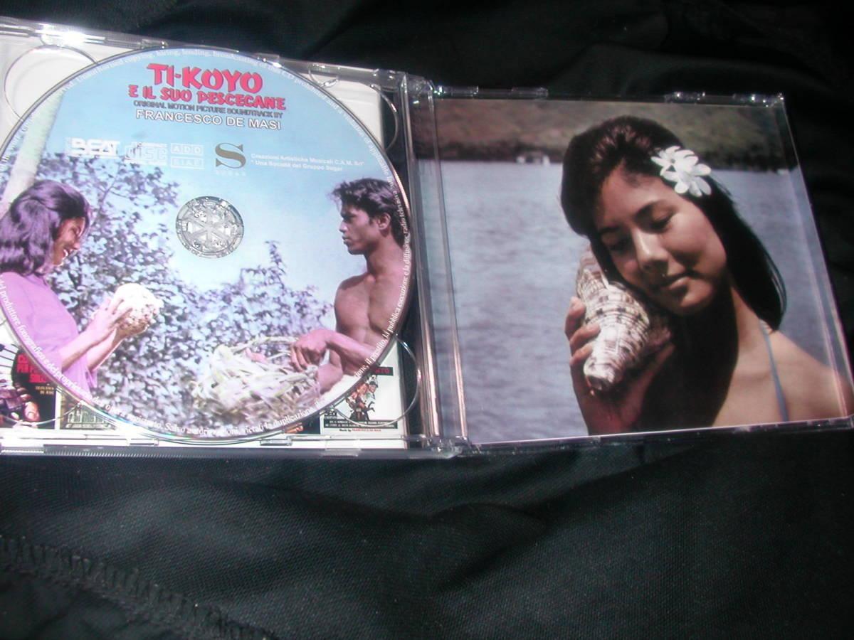 新品サントラ盤<チコと鮫>完全盤です。レコード&フィルム音源収録の2枚組。とてもよいフランチェスコ・デ・マージの代表的名盤サントラ_画像3
