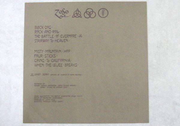 【レア・テストプレス・見本盤】 Led Zeppelin Ⅳ/レッド・ツェッペリン 4 白レーベル 見本盤_画像8