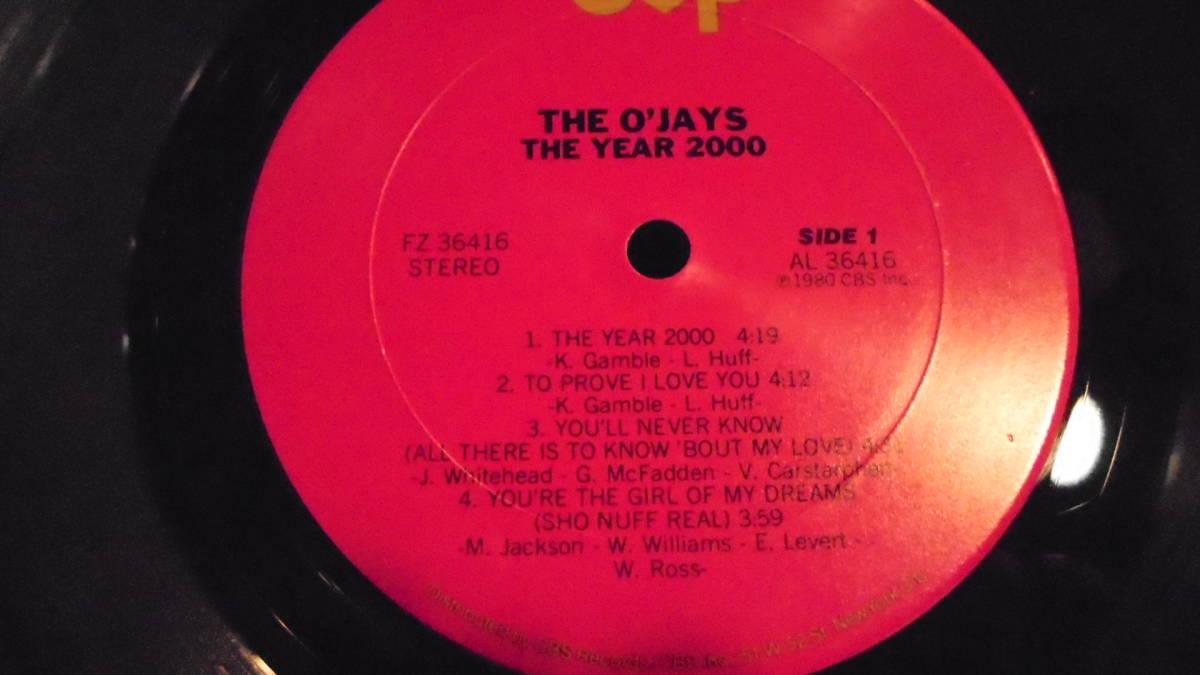 LP★オージェイズ★US盤★THE O'JAYS★1980年~THE YEAR 2000★ギャンブル&ハフがプロデュース ★R&B、ソウル _画像5
