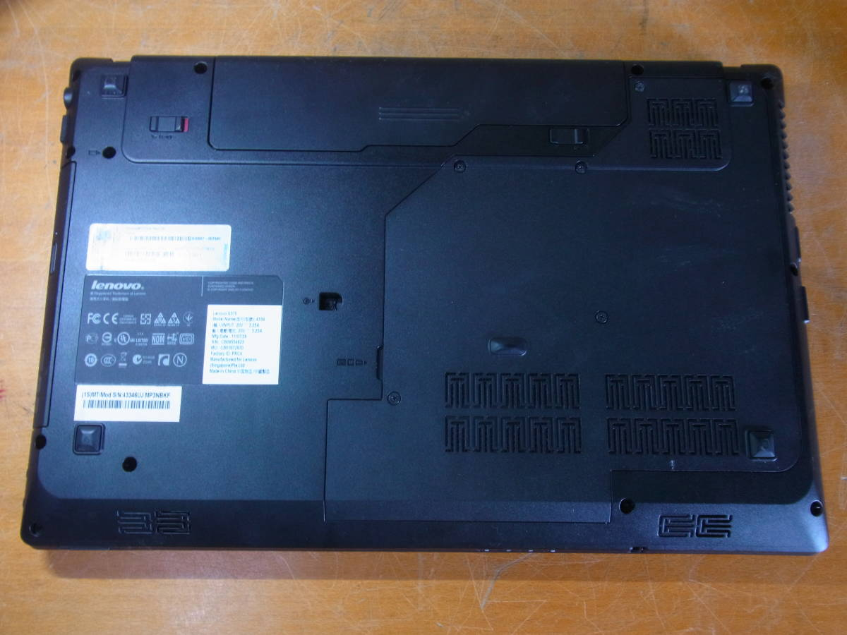 ⑧▲Lenovo G570 Core i3-2310M 2.10GHz/2GB/DVDマルチ BIOS起動OK _画像8