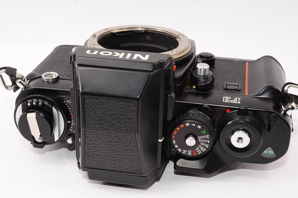 【美品】 ニコン エフスリー エイチピー Nikon F3 HP ボディ + MF-14 - ブラック マニュアルフォーカス / MF 一眼レフ [1498641] _画像2