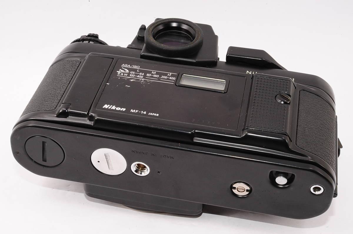 【美品】 ニコン エフスリー エイチピー Nikon F3 HP ボディ + MF-14 - ブラック マニュアルフォーカス / MF 一眼レフ [1498641] _画像3