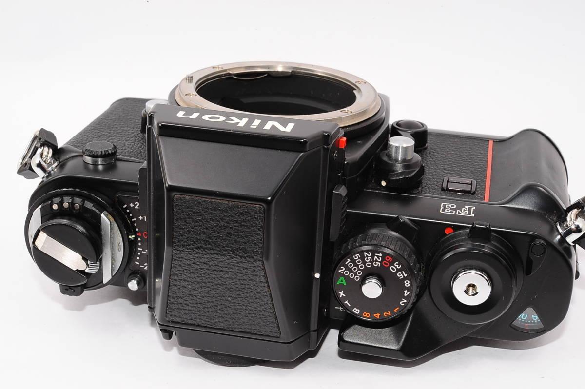 【美品】 ニコン エフスリー Nikon F3 ボディ - ブラック マニュアルフォーカス / MF 一眼レフ + 箱、取説付き [1775124] _画像3