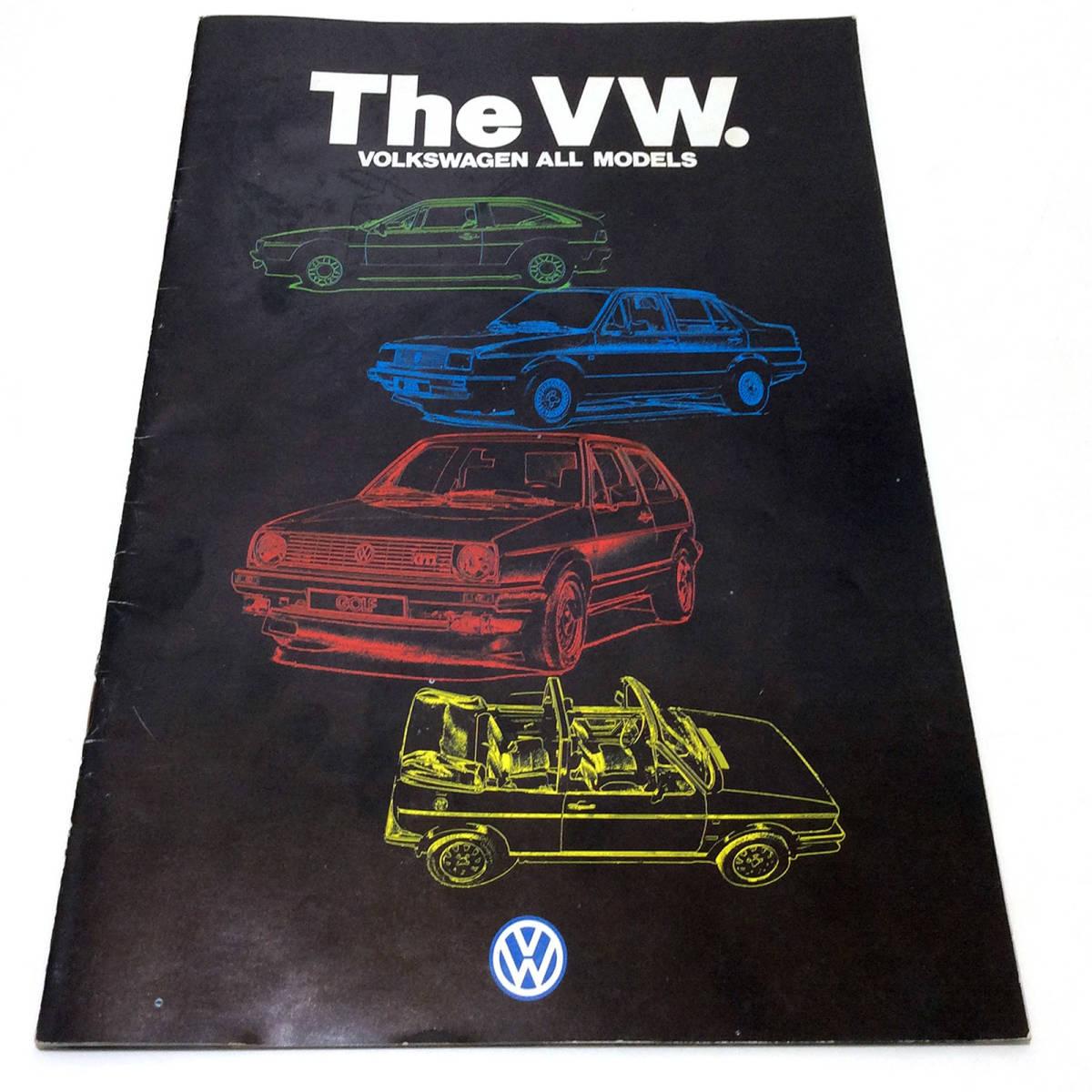 VW フォルクスワーゲン 全車種 カタログ (1986年-24頁、1986年のアクセサリー一覧-12頁、1989(推測)年-34頁の合計3冊)