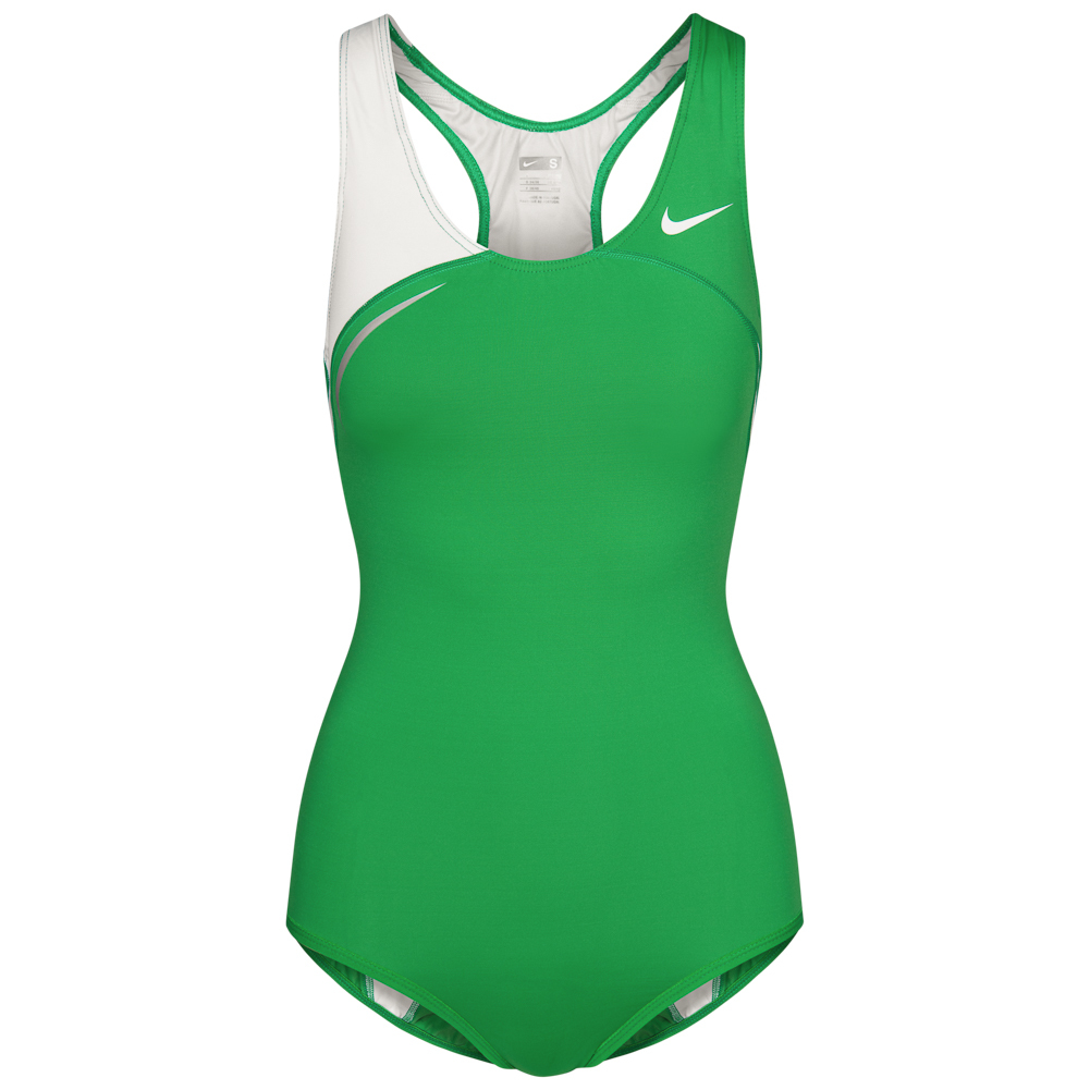 ナイキ 女子 レーシングレオタード グリーン ホワイト NIKE ハイレグ オリンピック 世界陸上 ヨーロッパ アスリート