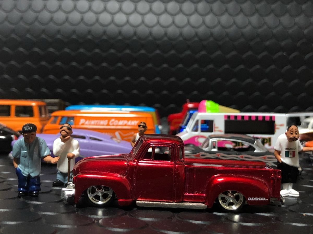 5deep Limitation Color 1951 Chevy 3100 Pickup Bomb Lowrider Truck Dubcity Jadatoys Red