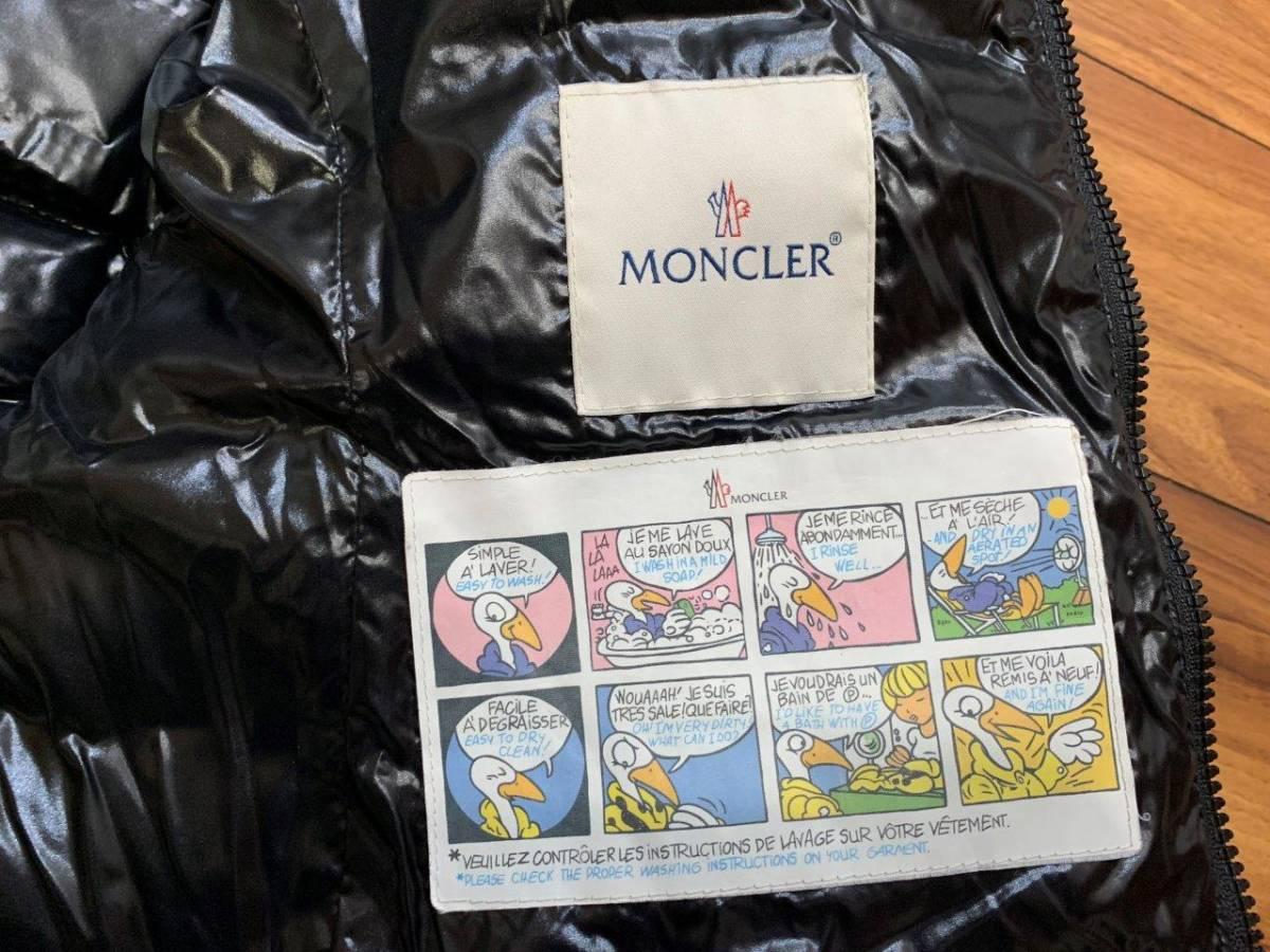ショート ダウン ジャケット の傑作 国内正規極美品 モンクレール BADY バディ ロング コート サイズ00 黒 HERMINE FLAMMETTE MOKA_画像9
