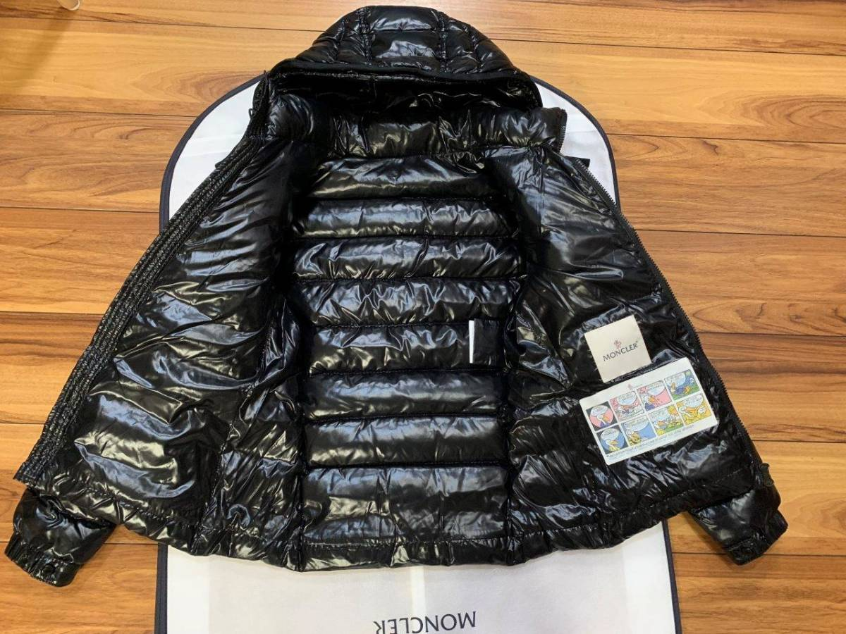 ショート ダウン ジャケット の傑作 国内正規極美品 モンクレール BADY バディ ロング コート サイズ00 黒 HERMINE FLAMMETTE MOKA_画像8