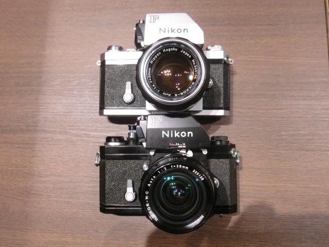 初代Nikon ニコン F フィルム一眼レフカメラ ブラック&シルバーボディ 2台おまとめ!