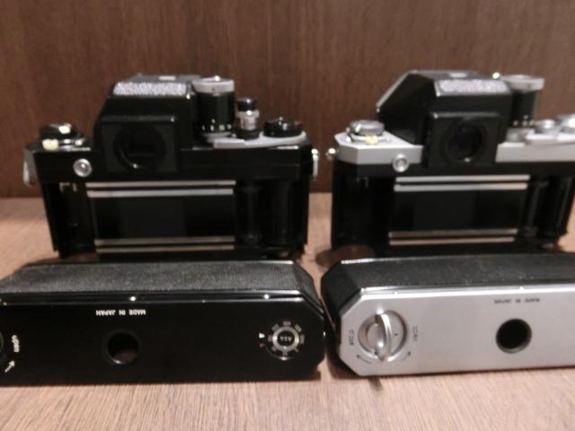 初代Nikon ニコン F フィルム一眼レフカメラ ブラック&シルバーボディ 2台おまとめ!_画像4