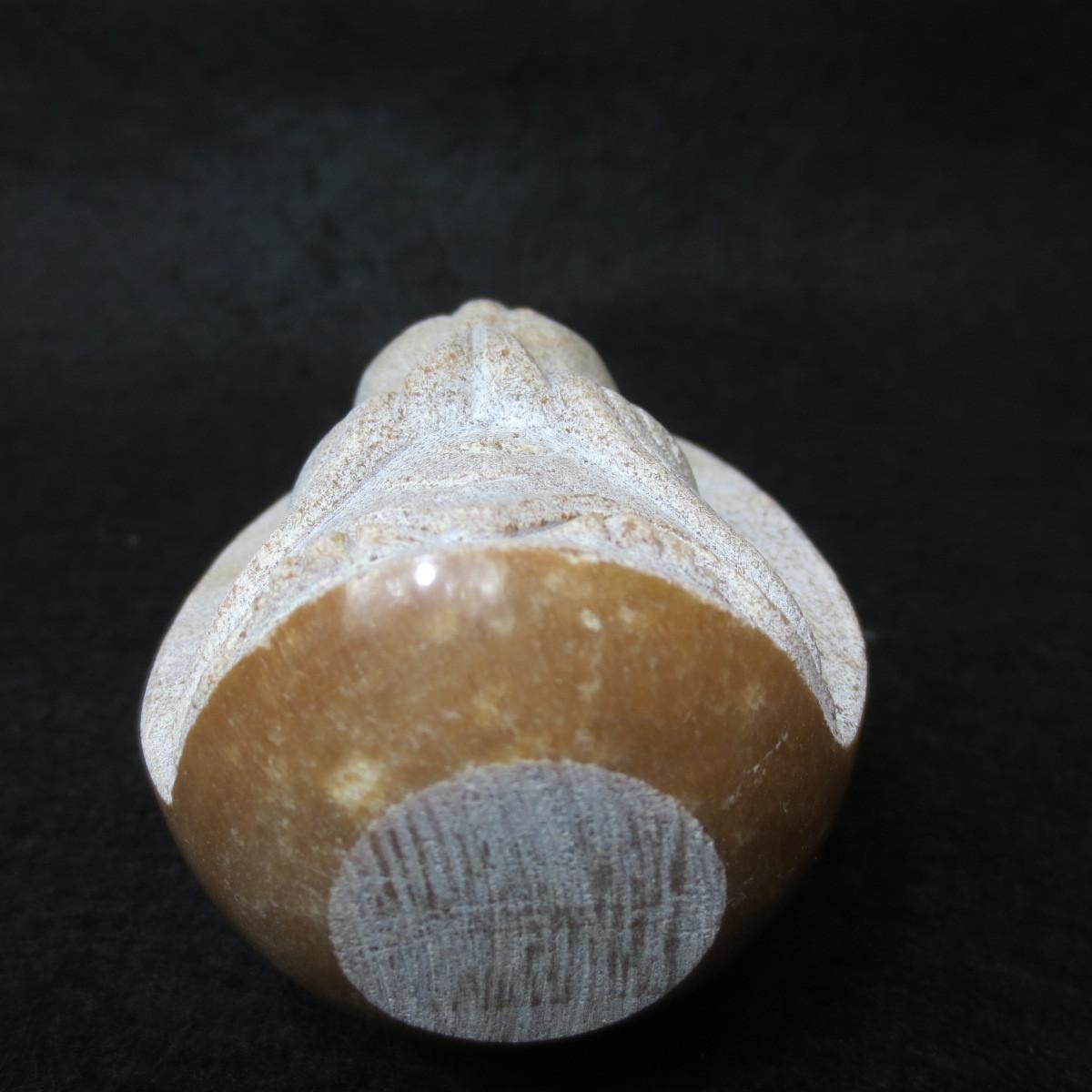 おじぞうさん おじぞうさま 玉子型 小さい かわいい 癒しのお地蔵さん 手作り ブラウンマーブル TB-G 置物 地蔵 大理石_画像9