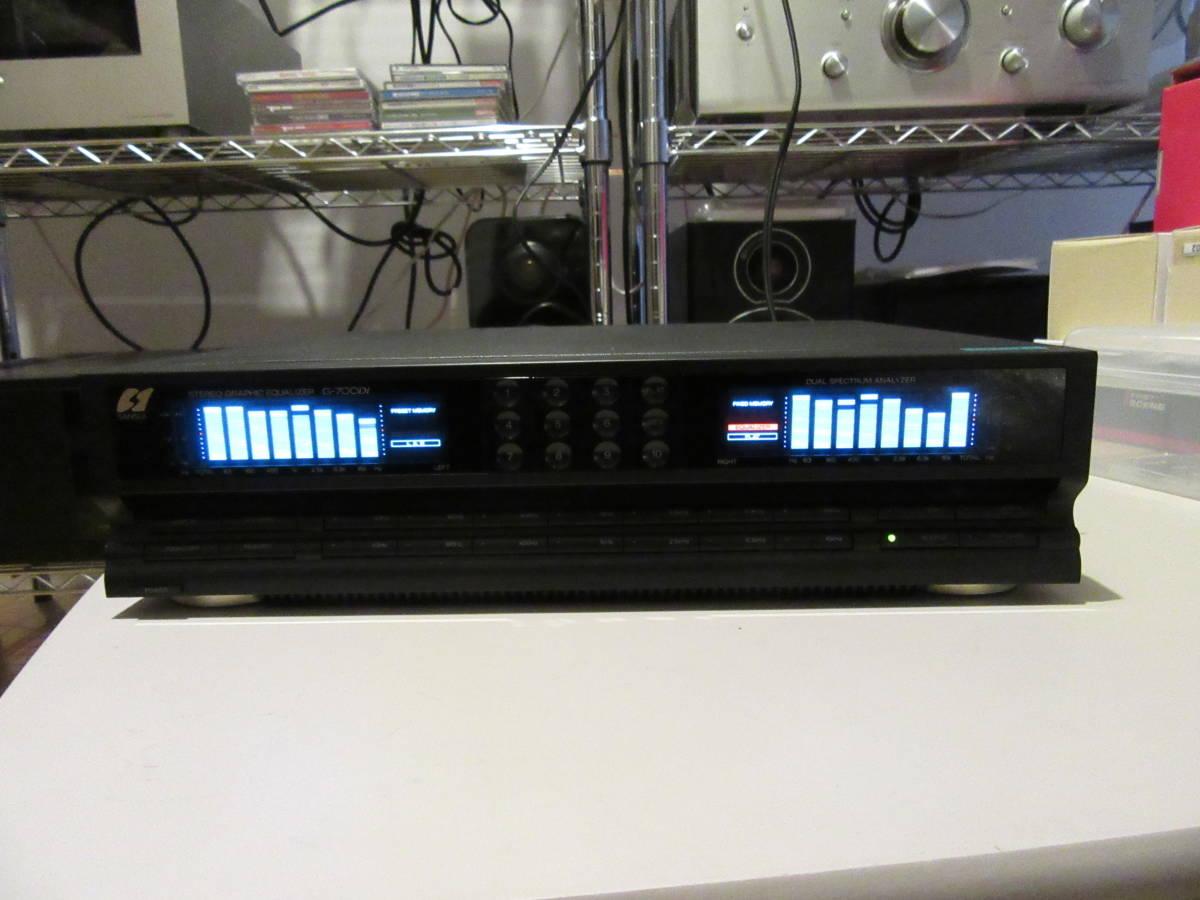 SANSUI G-700Di 7バンド ステレオグラフィックイコライザー 中古品 内部清掃 接点洗浄 メンテナンス施行 音出し動作確認済 ゆうパック発送_画像1