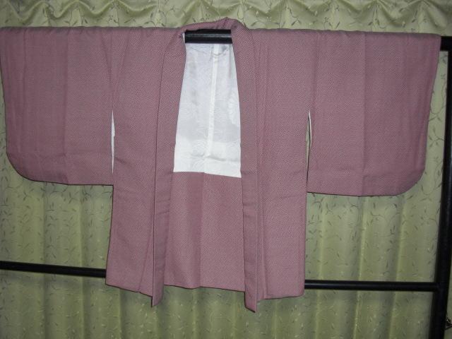 ウール袷はおり 絞り調袷羽織 鹿の子ウール袷羽織 着丈69㎝ 袖丈43㎝ 裄63、5㎝