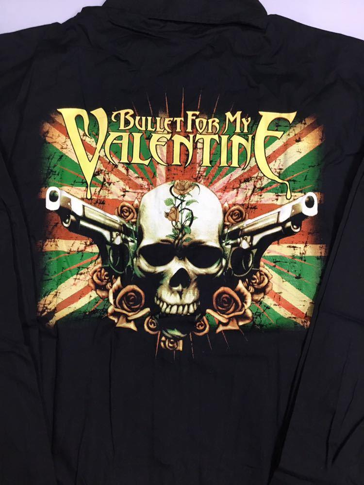 両面プリントバンドデザイン長袖シャツ ブレットフォーマイバレンタイン XLサイズ BULLET FOR MY VALENTINE CCD1A