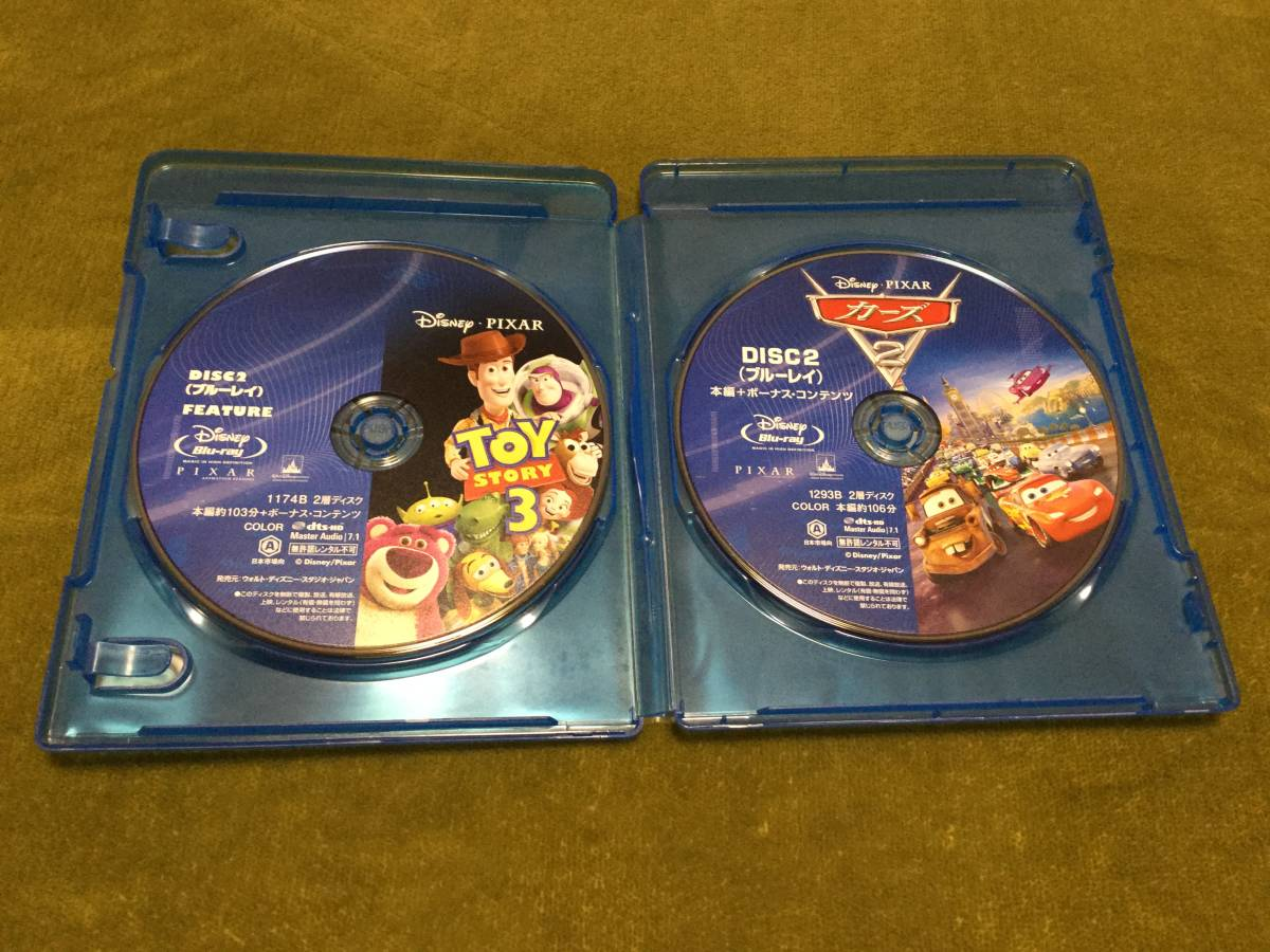 Toy Story 3 The Cars 2 2 Work Set Blu Raybook Compilation Disk Only Domestic Regular Goods Disney Piksa Prompt Decision Real Yahoo Auction Salling