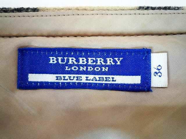 BURBERRY バーバリー ブルーレーベル 厚手 ミニスカート ホースマークバックル チェック柄 サイズ36_6.サイズ