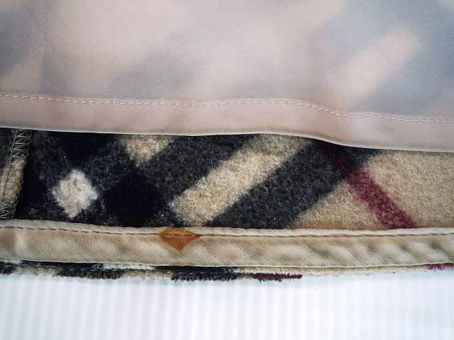 BURBERRY バーバリー ブルーレーベル 厚手 ミニスカート ホースマークバックル チェック柄 サイズ36_10.汚れ