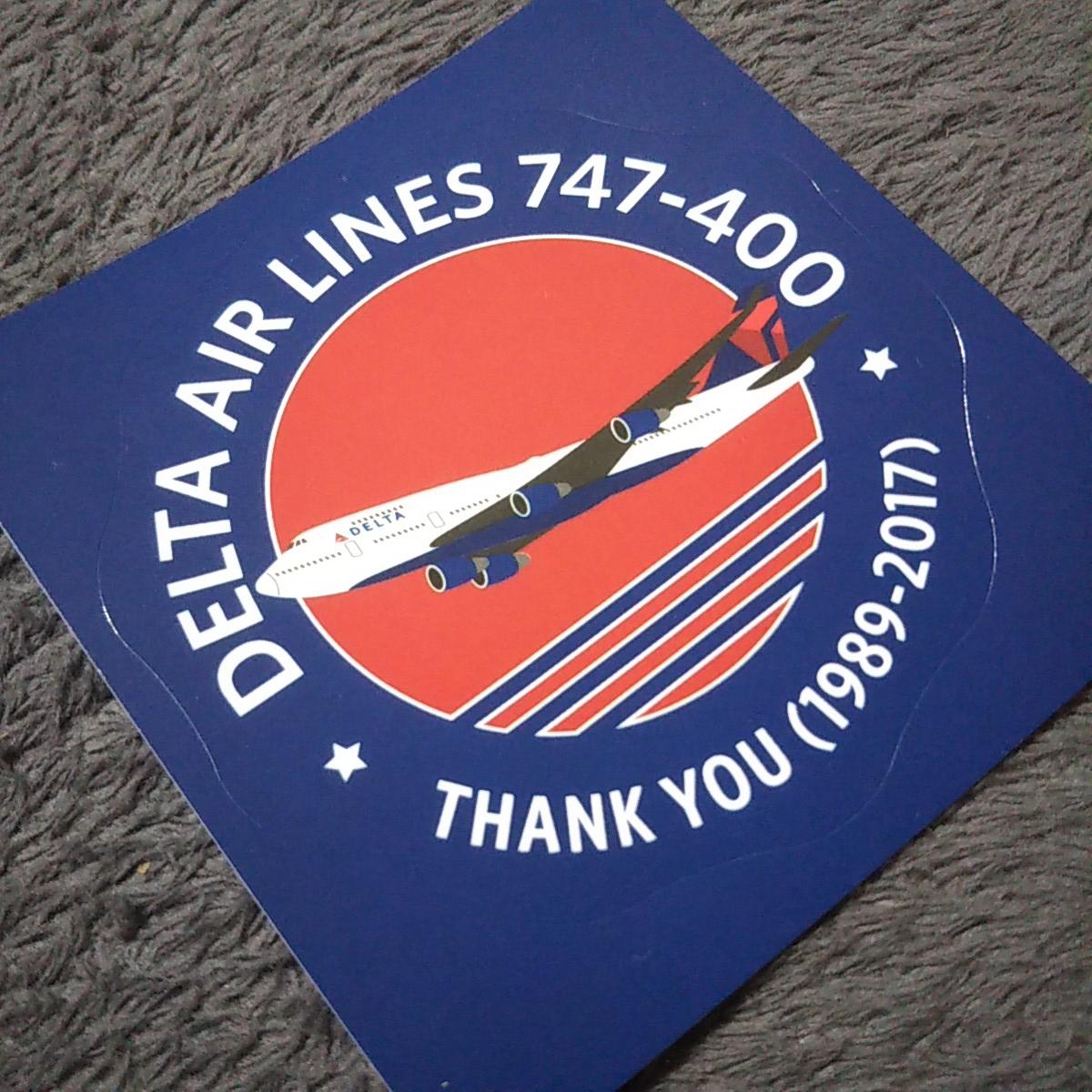 2020年デルタ成田撤退?激レア品!! デルタ航空 DELTA AIRLINES B747-400 ジャンボ退役記念 非売品ステッカー_画像4