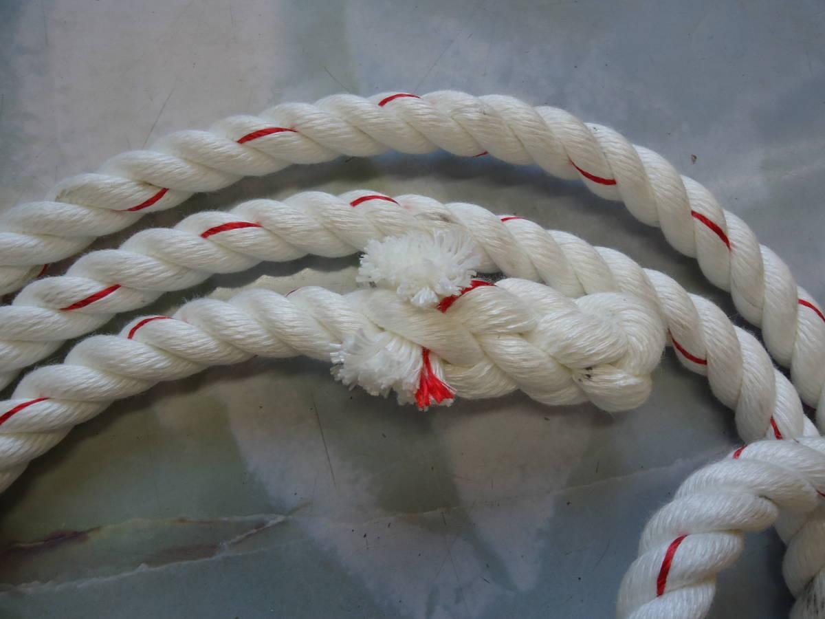 「ターザン、ぶらさがりロープ クレモナロープ 20Φ 約4m シャックル付き 送料無料」の画像2