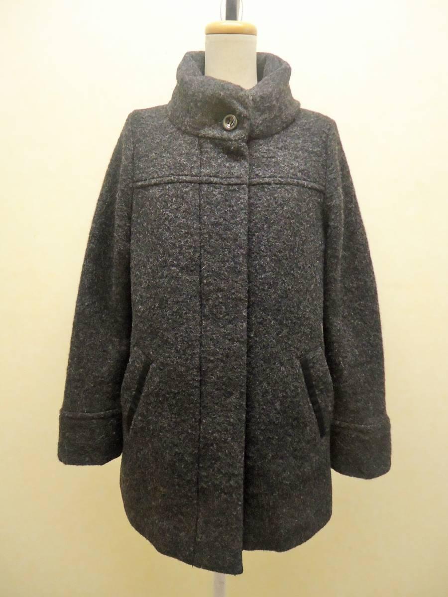 秋冬最終!mi deu グレー圧縮ウール中綿コート(2)美品¥4万