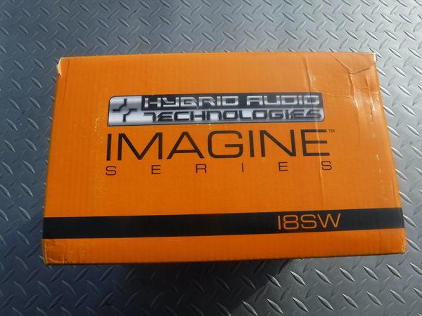 未使用 在庫有 hybrid Audio ハイブリッドオーディオ I8SW ウーファー ウーハー 外径 約20.5cm_サンプル画像