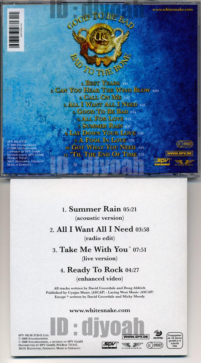 (2CD) ドイツ盤 ☆ WHITESNAKE / GOOD TO BE BAD (Limited Edition Box Set)☆ 箱とCDのみ その他の付属品なし, Doug Aldrich, Reb Beach_画像4